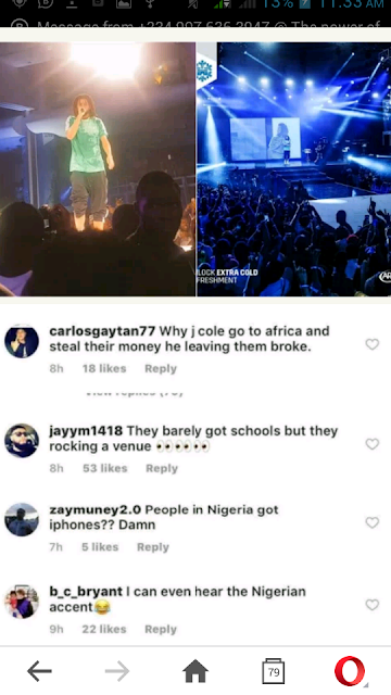 Americans React To J. Cole's Lagos, Nigeria Performance - Celebrities