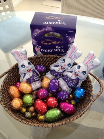 Blogging from the beach, Natasha in Oz, Easter eggs, Cadbury Easter Eggs image