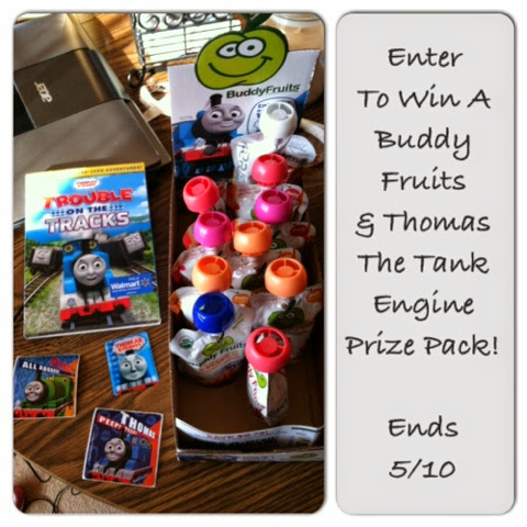 Enter to win a Buddy Fruite & Thomas the Tank Engine Prize Pack, Ends 5/10