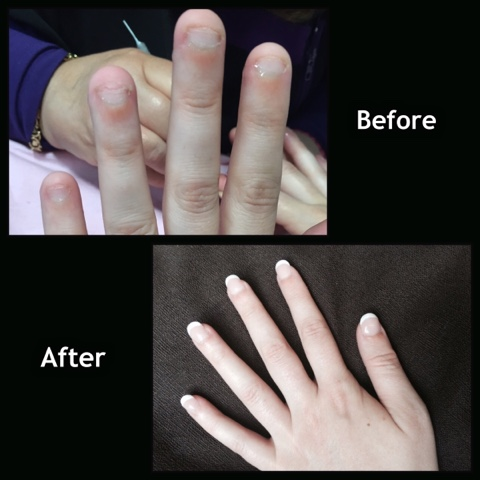 After The Nails Were Built A Little French Manicure And Voila Tres Chic For Bethan