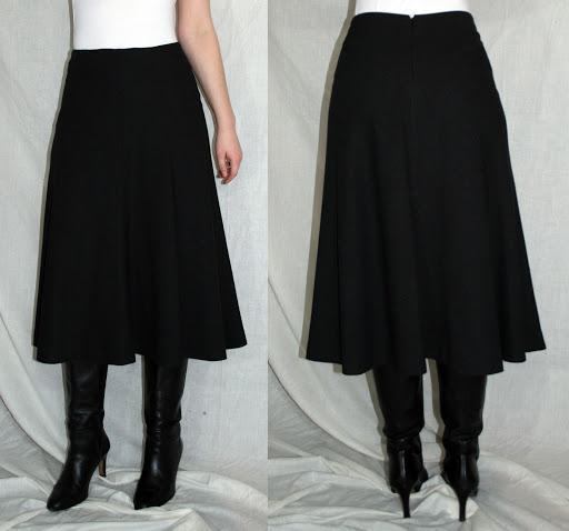 Burda 10-2006-112: Bias cut skirt (wool crepe)