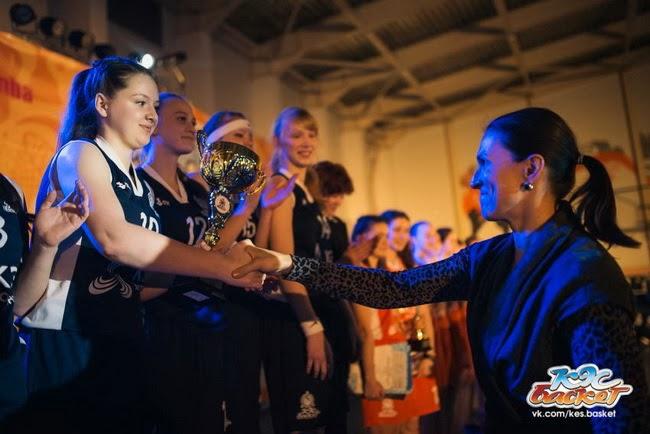 Победители среди команд девушек на региональном финале Чемпионата КЭС-Баскет Ярославской области