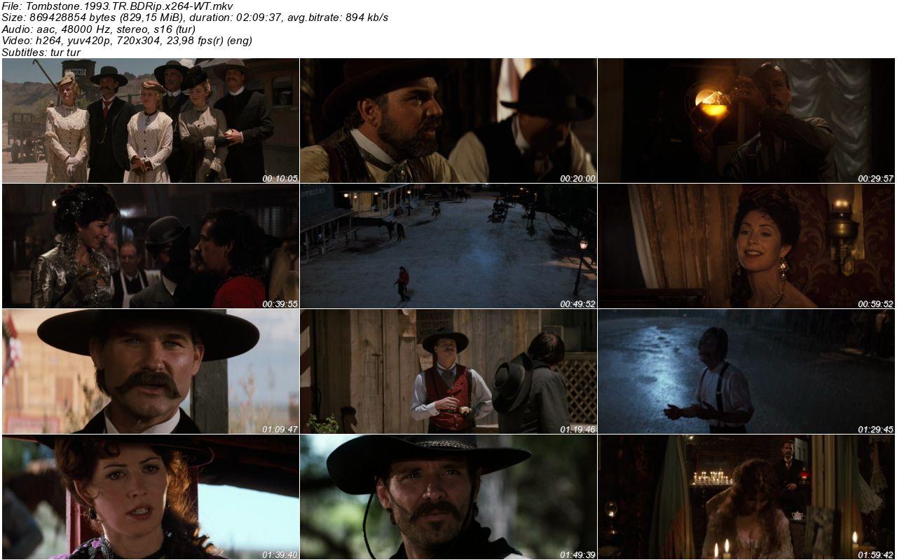 Tombstone - 1993 480p BDRip x264 - Türkçe Dublaj Tek Link indir