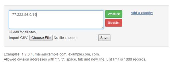 blacklist spammer