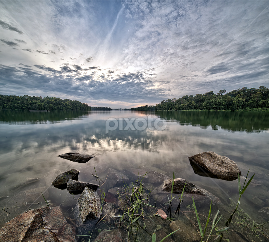 Reflection by Partha Roy - Landscapes Cloud Formations
