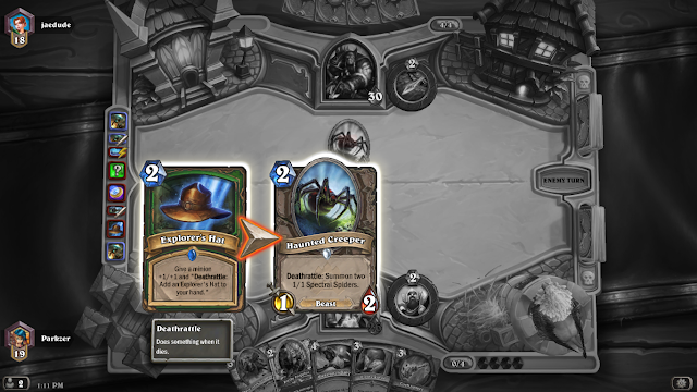 First time seeing Explorer's Hat in Hearthstone