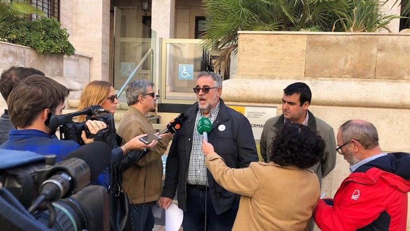 Declaraciones del portavoz de la Mesa, José Carlos Tejada