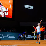 STUTTGART, GERMANY - APRIL 18 : Johanna Konta in action at the 2016 Porsche Tennis Grand Prix