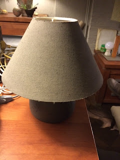 Krijtverf op lampenkap