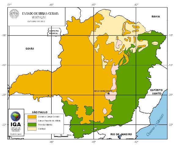 mapa de minas gerais,clima tempo,hidrografia vegetação
