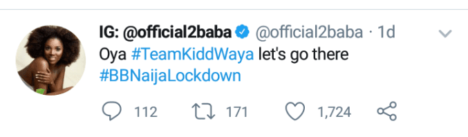 Bbnaija: 2face Idibia Supports Kiddwaya