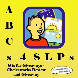 ABCs 4 SLPs: G is for Giveaways - Choiceworks Review and Giveaway image