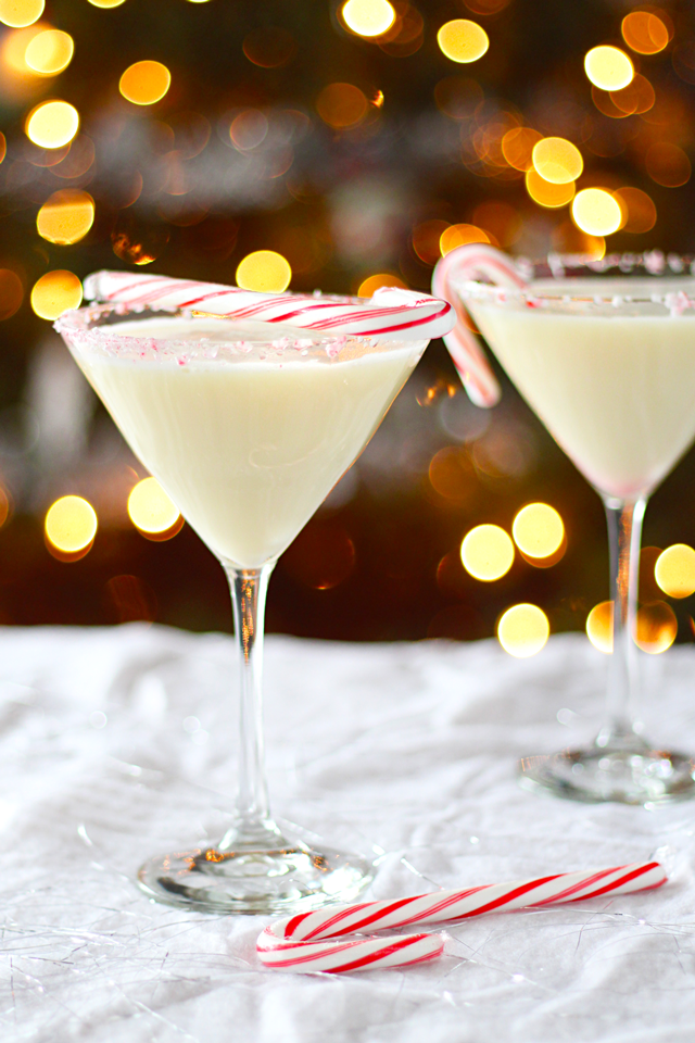 Creamy Dairy-Free Candy Cane Cocktail from dontmissdairy.com