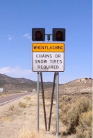 Sign reading chains required when flashing