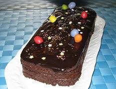 uche biscuitée très chocolat pour pâques