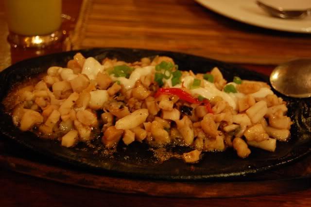 seafood sisig