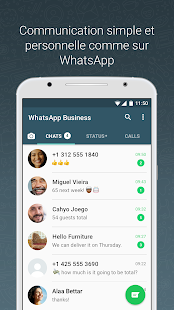 WhatsApp Business Capture d'écran