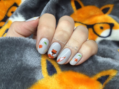 liverpoollashes karen nail art blogger scouser scouse cnd shellac nail art foxes with glasses nails