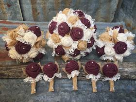 burlap bouquets and boutonnieres