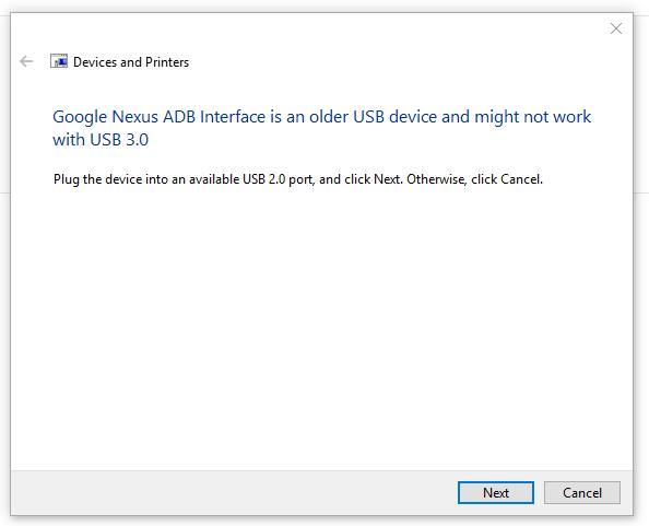 Nexus 5 Not recognized by HP Omen & Windows 10 - Nexus Help