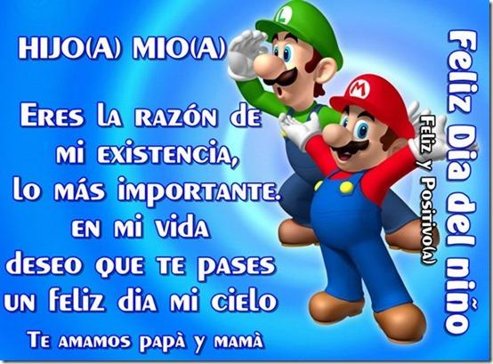 Feliz día del niño con  Mario