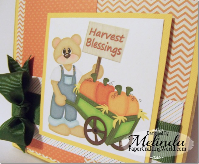 Bear w pumpkin cart Digital Stamp Card