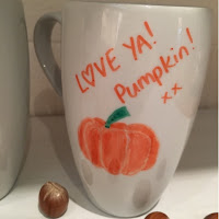 Create Autumn Design Sharpie Mugs Larabeeuk