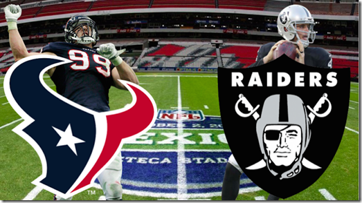 Raiders vs Texans Mexico 2016 boletos a la venta