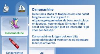 De Sims 4 Beleef het Samen dansmachine