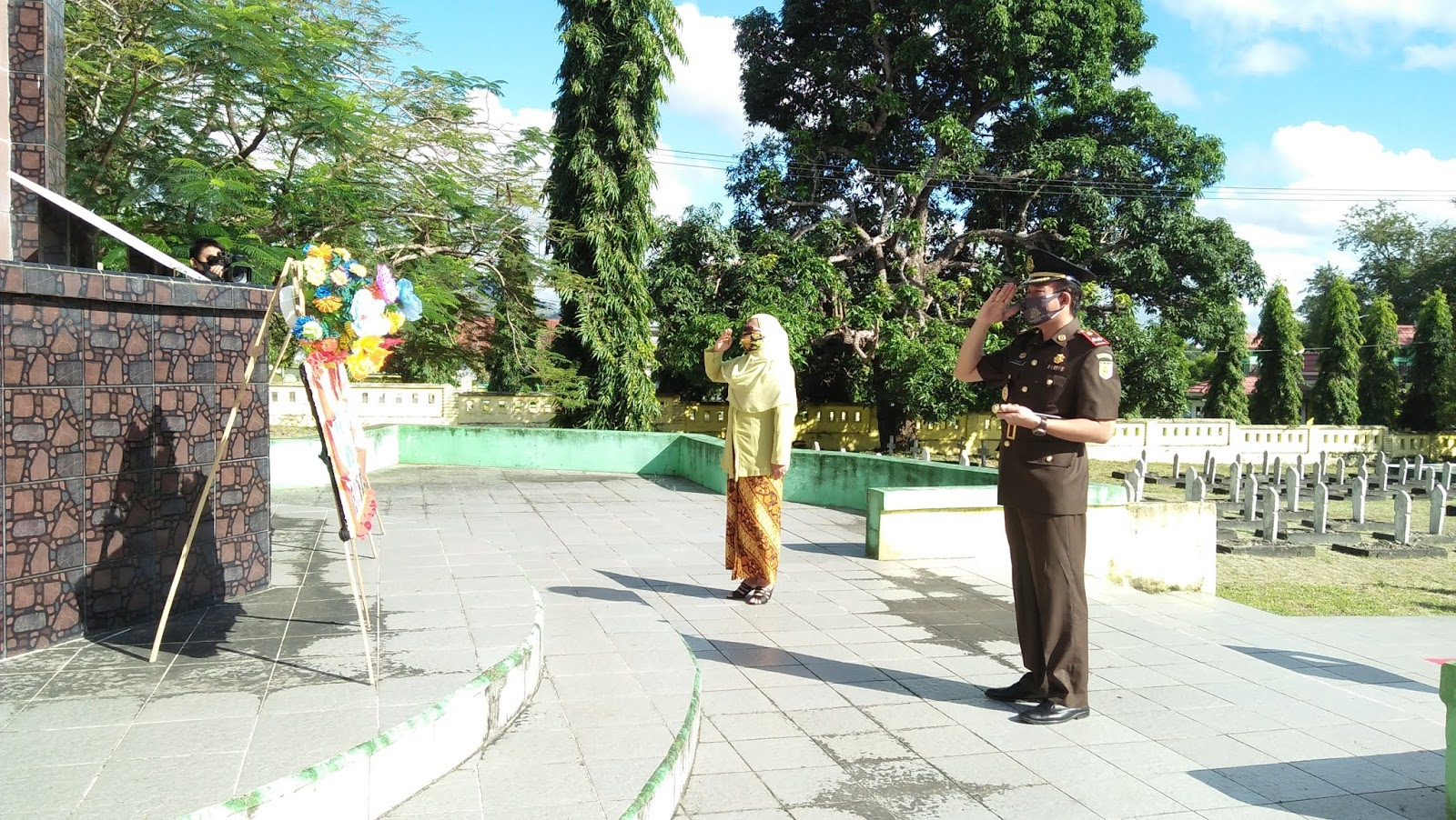 Hut XX Ikatan Adhyaksa Dharmakarini Tahun 2020, Kajari Soppeng Kunjungi TMP Salotungo