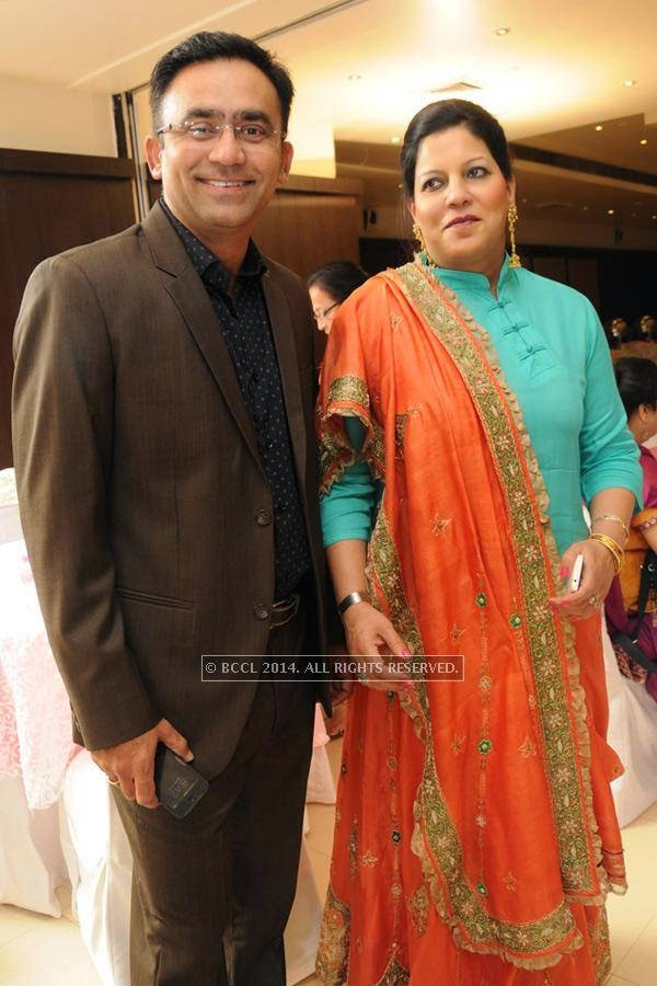 Saba Karim and Rashmi during the silver jubilee celebrations of their wedding anniversary.