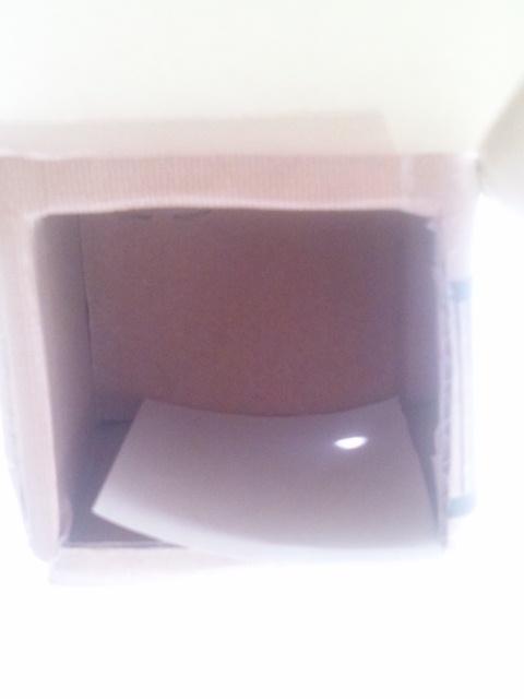 金環日食の安全な観測の為、段ボールでピンホールを作ってみた。