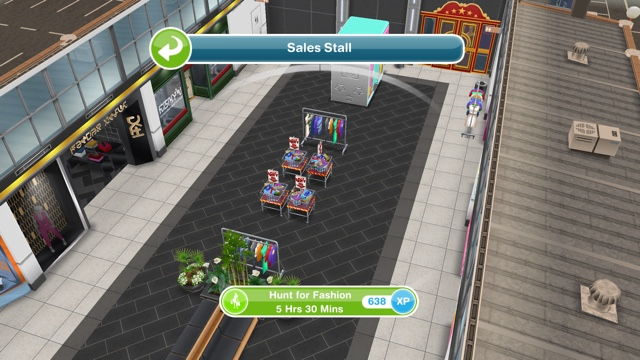 Sims freeplay fashion hunter hobby glam glitz update for How to make a second floor on sims freeplay