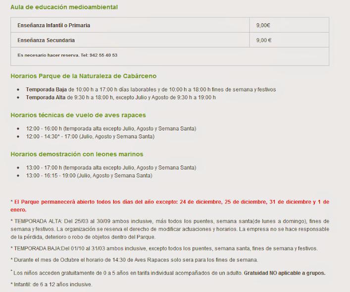 Precios_tarifas_horarios_entradas_Cabarceno
