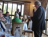 Our 46th Charter Lunch - President Mike Evans addressing everyone.... October 2016