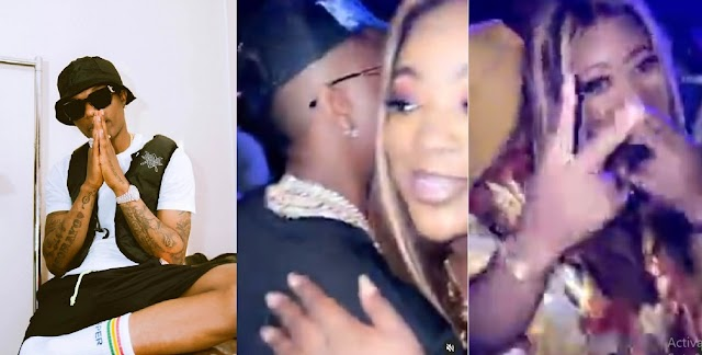 Wizkid and Jackie Appiah Caught Having Nice Time at a Popular Night Club [Video]