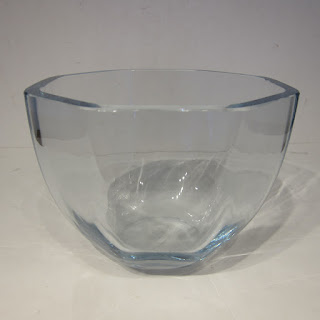 Strombergshyttan Signed Faceted Crystal Bowl