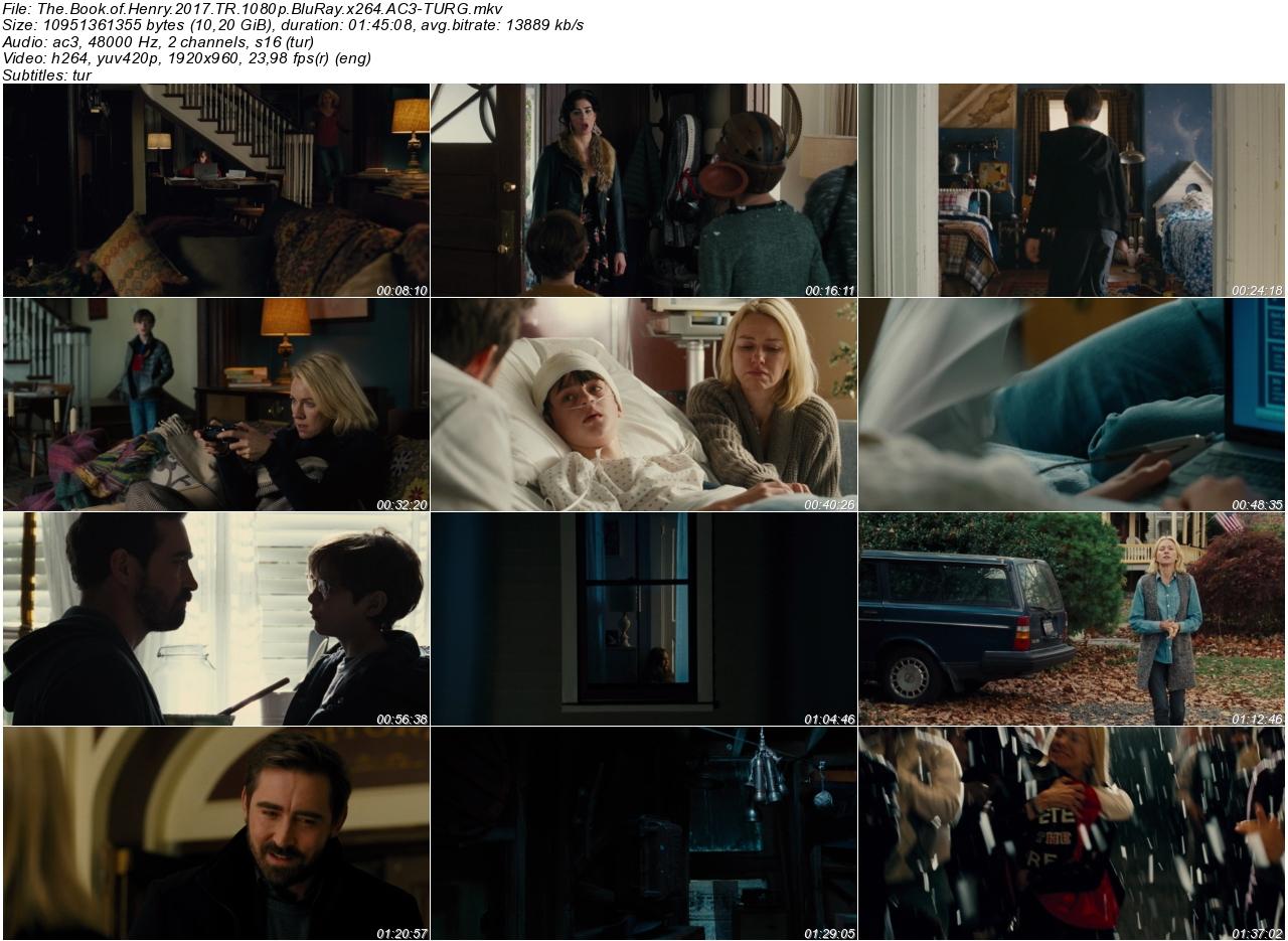 Henrynin Kitabı 2017 - 1080p 720p 480p - Türkçe Dublaj Tek Link indir