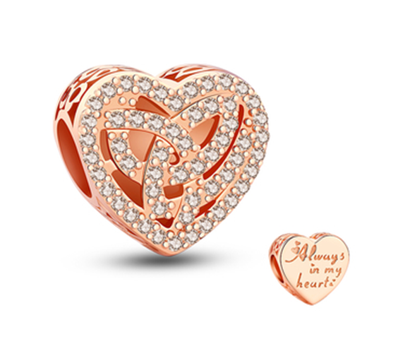 Love Knitting Rose Gold Charm