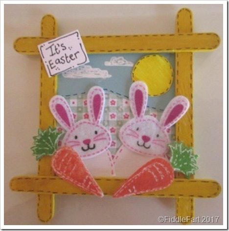Popsickle Stick Easter Bunny Picture Frame yww