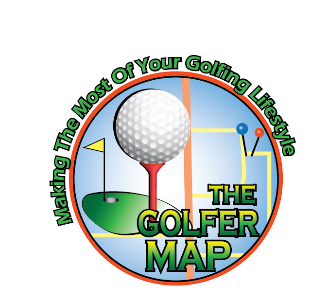 The Golfer Map Logo