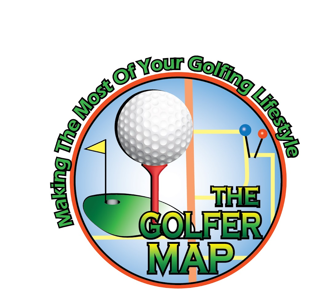The Golfer Map Logo