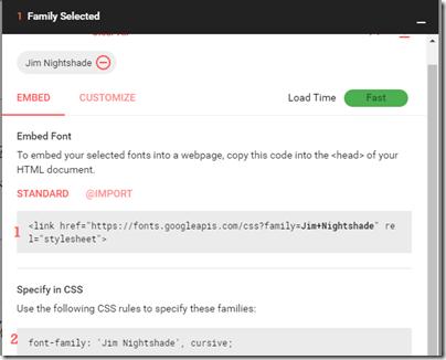 google-web-font-blogger