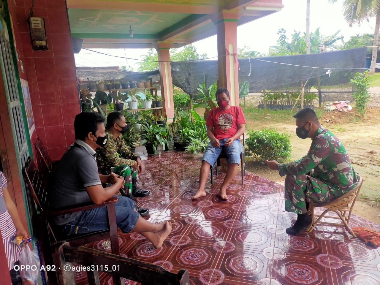 Satgas TMMD Kodim 1008/TJG Jalin Komsos Dengan Warga
