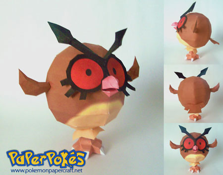 Pokemon Hoothoot Papercraft