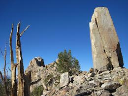 Ridge atop of Obelisk Peak.