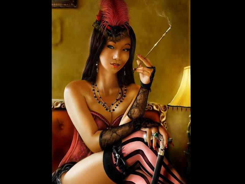 Smoking Beauty, Sorceress 3
