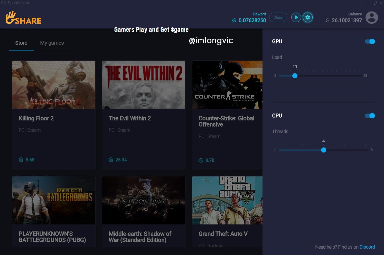 Gshare - Gamecredit Mining Tool