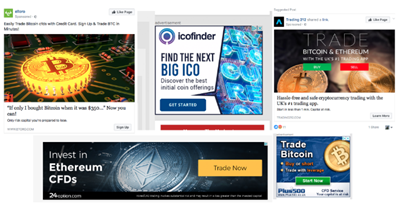 Cryptocurrency promoted by Google ads