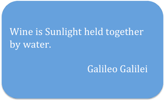 Wine Quote of the Week - Galileo